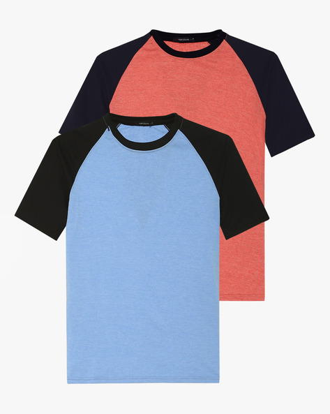 Pack Of 2 Colourblock T-shirts By Fort Collins ( Multicolour ) - 460077104001