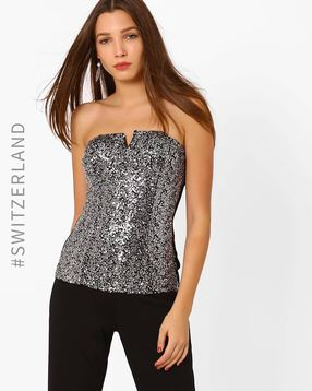 Sequinned Tube Top