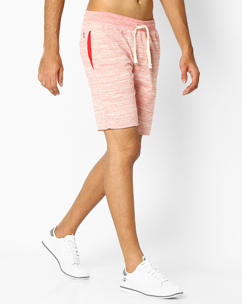 Textured Shorts With Elasticated Waistband By TEAM SPIRIT ( Red )