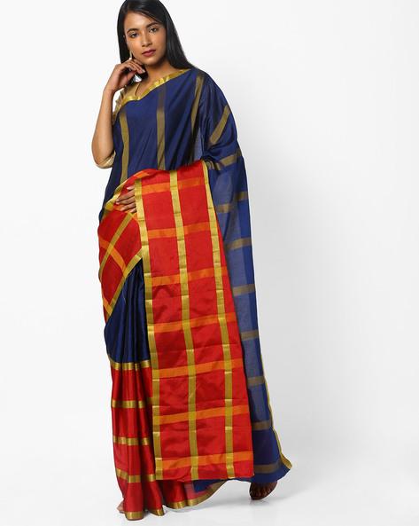 Weaved Art Silk Saree By CHHABRA 555 ( Navyblue )