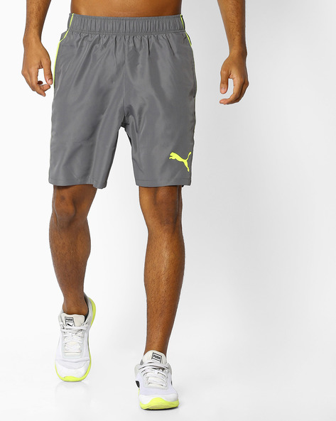 Woven Shorts With Elasticated Waist By Puma ( Grey )