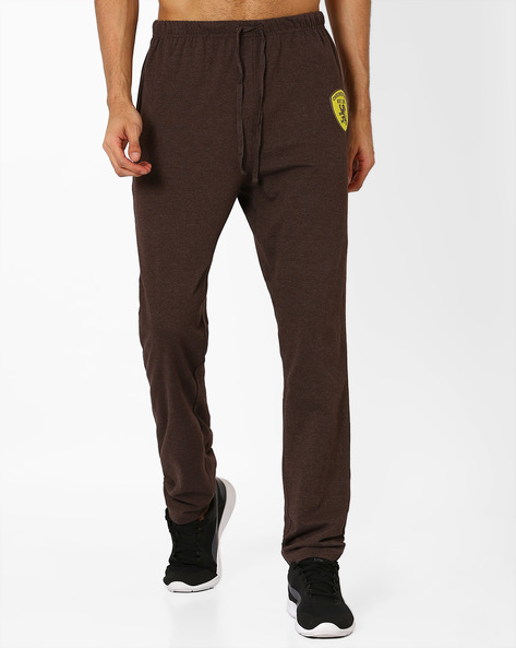 Slim Fit Track Pants By CHROMOZOME ( Brown )