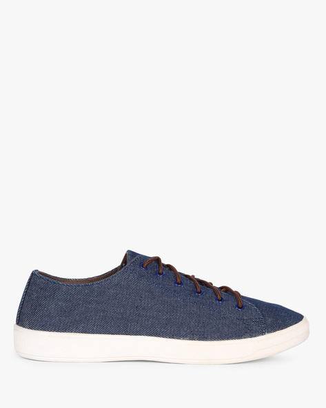 Casual Shoes With Lace-Ups By AJIO ( Darkblue )