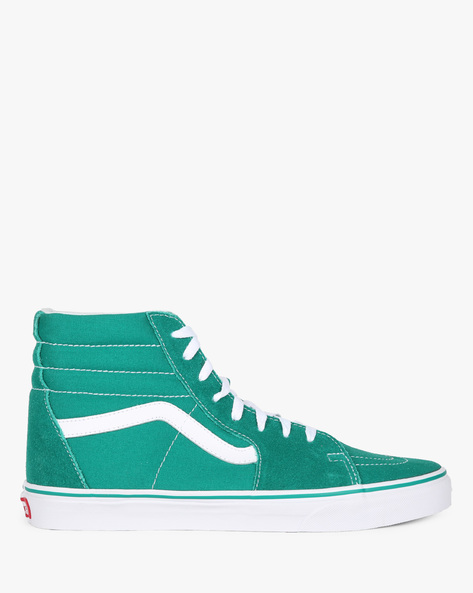 Sk8-Hi High-Top Lace-Up Casual Shoes By Vans ( Green )