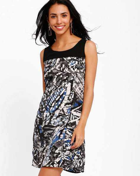 Printed A-line Dress By Style Quotient By Noi ( Multi )