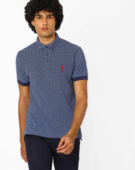 Printed Polo T-shirt With Button-Down Collar By US POLO ( Assorted ) - 440760096001