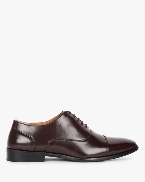Lace-Up Formal Shoes By Piaffe ( Brown )
