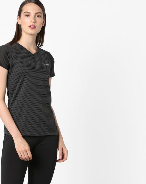 V-neck T-shirt With GoDRY Technology By 2Go ( Black )