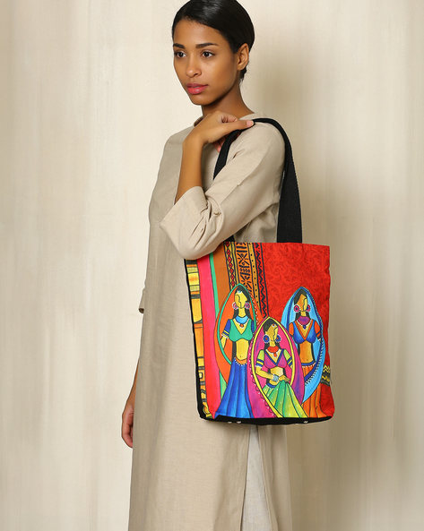 Digital Print Tote Bag By All Things Sundar ( Multi ) - 460040295001