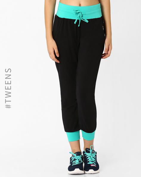 Cuffed Track Pants By AJIO Girl ( Black )