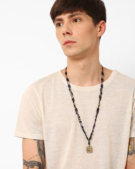 Beaded Neckpiece With Anchor Pendant By Alto Vida ( Multi )