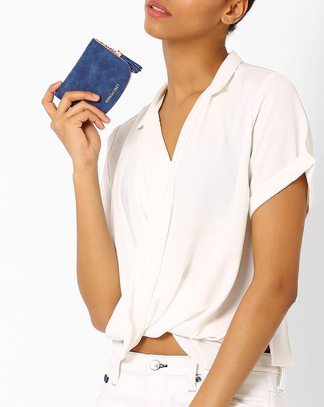 Zip-Around Wallet By Lino Perros ( Blue )