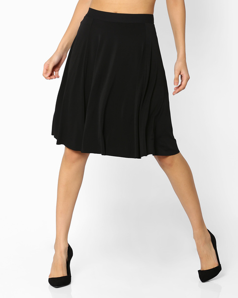 Flared Panelled Skirt By CODE By Lifestyle ( Black )