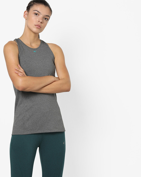 Racerback Tank Top With Cut-Out By PERFORMAX ( Charcoal )
