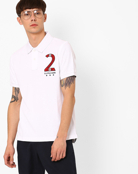 Polo T-shirt With Numeric Applique By US POLO ( Assorted )