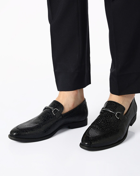 Faux-Leather N9-Treated Slip-On Shoes By AJIO ( Black )