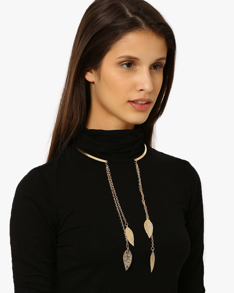 Partially Open Neck-Piece By Style Fiesta ( Gold )