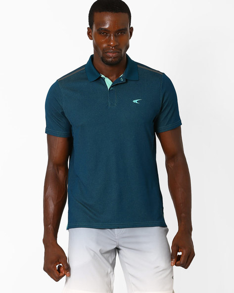 Quick Dry Polo T-Shirt By PERFORMAX ( Dkturq )