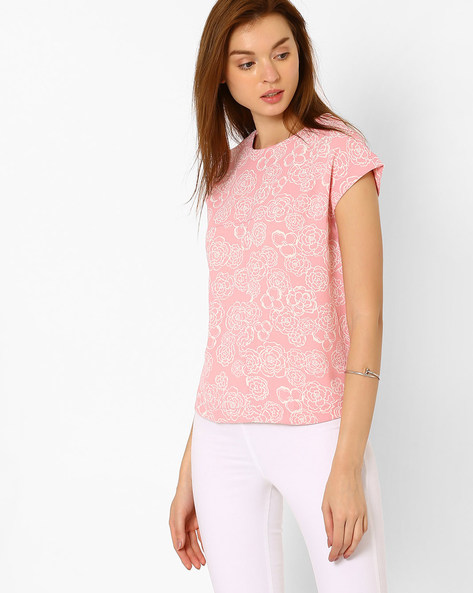 Panelled Floral Top By CHEMISTRY ( Multi )