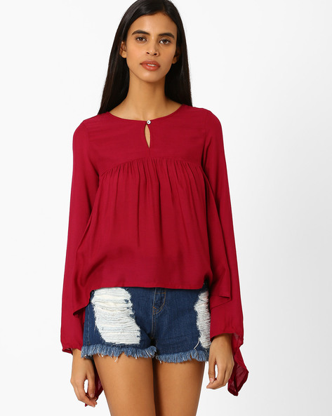 Top With Bell Sleeves By Oxolloxo ( Pink )