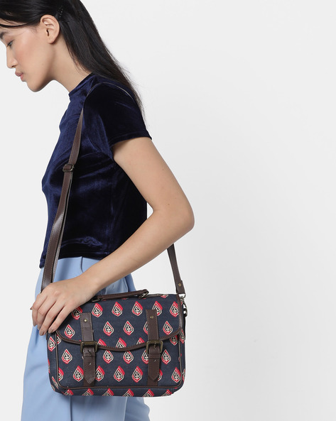 Printed Canvas Sling Bag By Project Eve ( Multi )