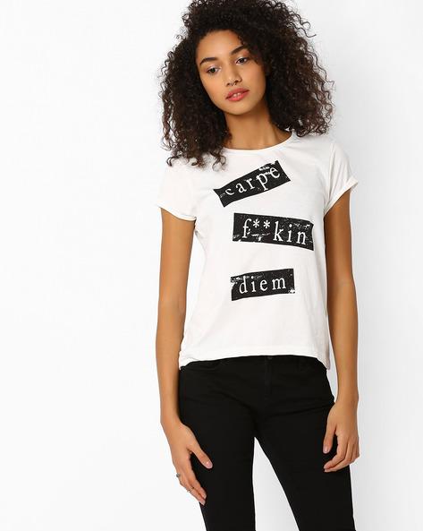Graphic Print T-shirt By AJIO ( Offwhite ) - 460013843001