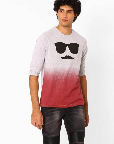Graphic Print T-shirt By Garcon ( Red )