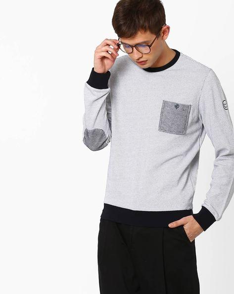 Slim Fit Crew-Neck Sweatshirt By GAS ( 0001 )