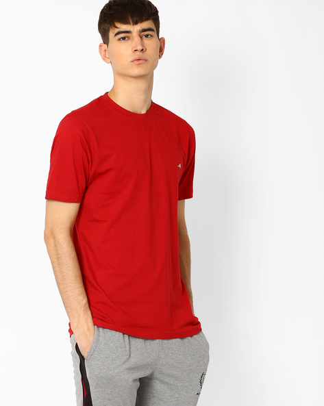 Regular Fit Crew-Neck T-shirt By 2Go ( Red )