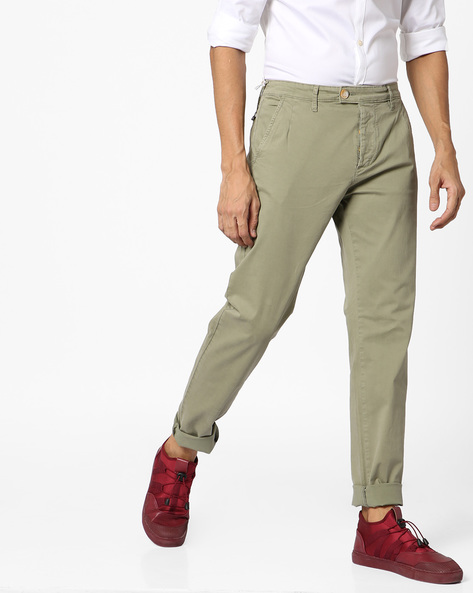 Slim Fit Trousers With Zip Fly By GAS ( 4821 )
