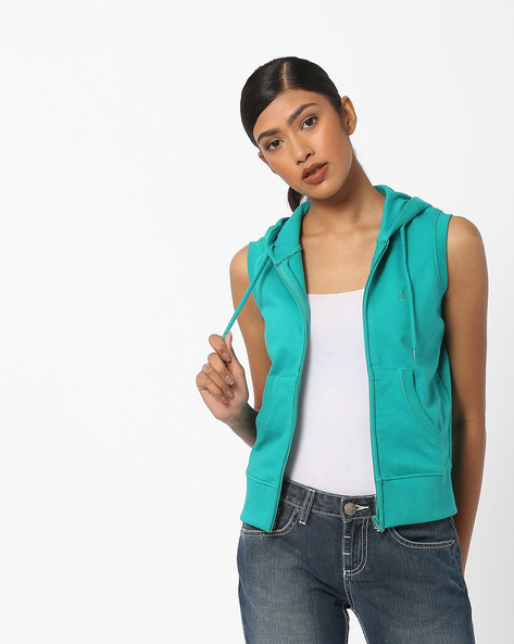 Zip-Front Hooded Sweatshirt By WRANGLER ( Green )