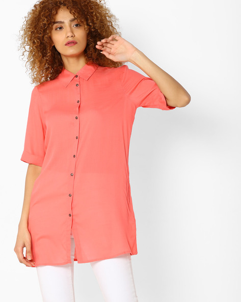 Shirt Tunic With Kimono Sleeves By Vero Moda ( Pink )
