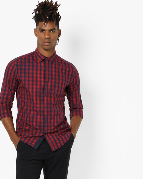 Checked Casual Slim Fit Shirt By Black Coffee ( Multi ) - 460151685001