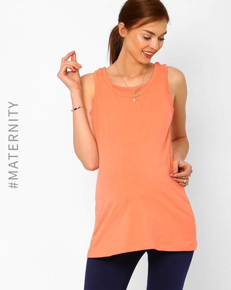 Nursing Tank Top By AJIO ( Peach )