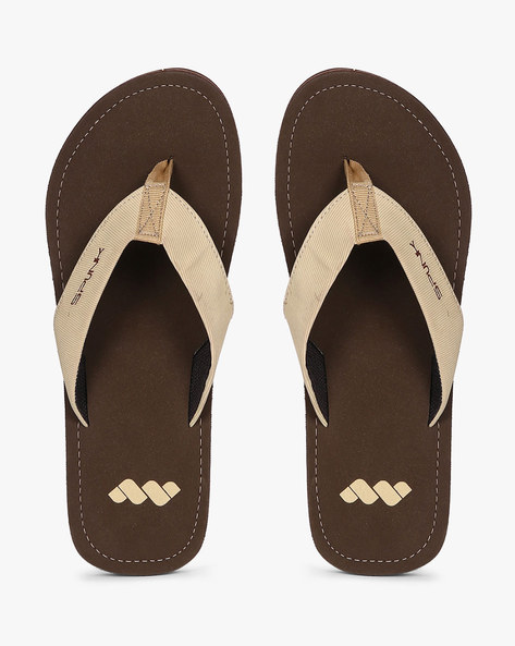 Flip-Flops With Thong Strap By Spunk ( Brown )