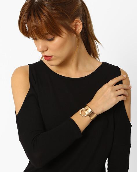 Cuff Bracelet By Pipa Bella ( Gold )