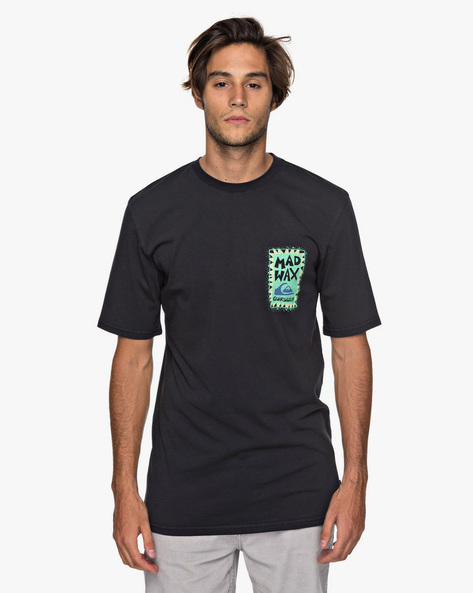 Printed Crew-Neck Longline T-shirt By QUIKSILVER ( Kvj0 ) - 410081169001