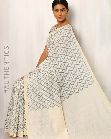 Printed Cotton Silk Saree With Ghicha Pallu By Rudrakaashe-MSU ( Multi ) - 460011248001