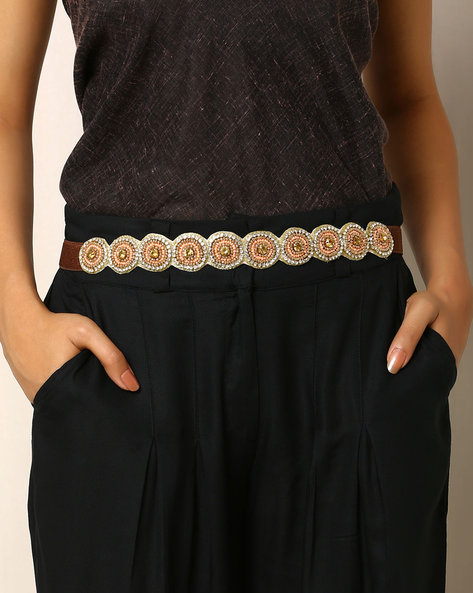 Embellished Beaded Belt By Indie Picks ( Multi ) - 460017831001