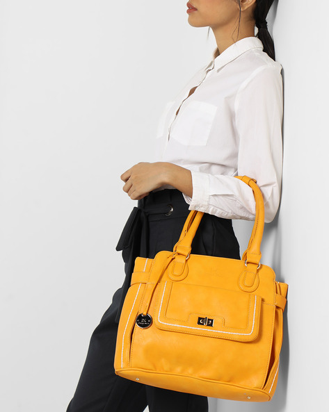 Satchel With Short Handles By Diana Korr ( Yellow )