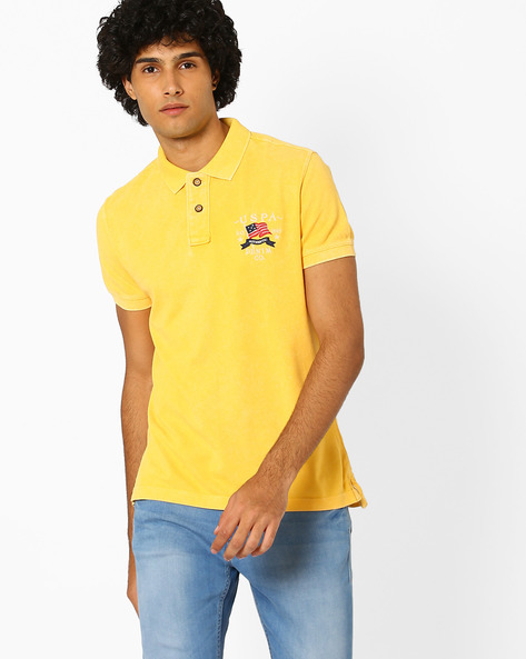 Regular Fit Cotton Polo T-shirt By US POLO ( Assorted ) - 440760251001