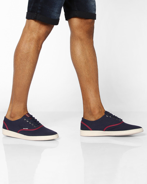 Lace-Up Shoes With Contrast Panels By Jack & Jones ( Navyblue )