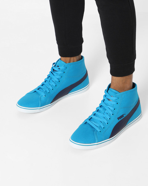 Lace-Up Casual Shoes By Puma ( Blue )