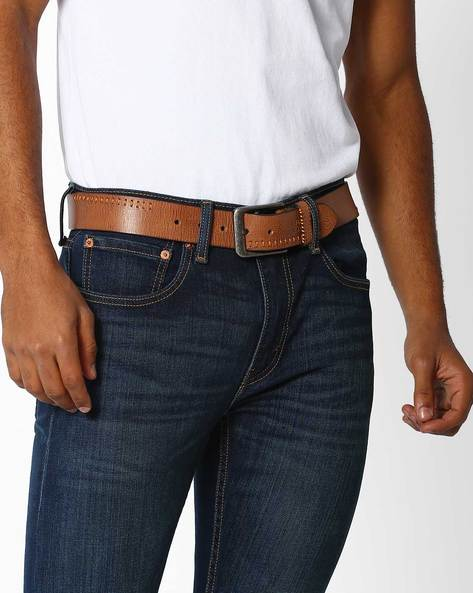 Textured Leather With Buckle Closure By FLYING MACHINE ( Brown )