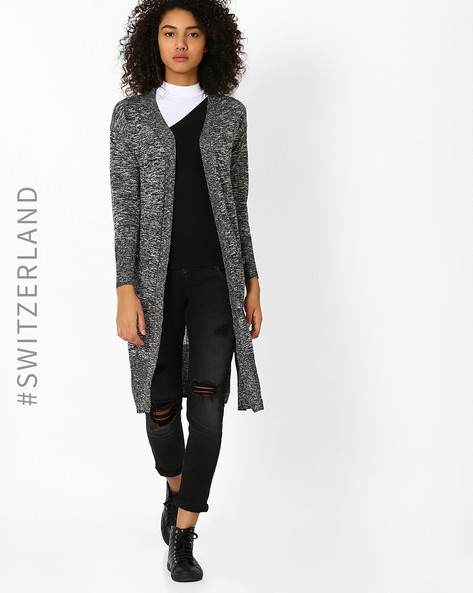 Maxi Cardigan With High Slits By TALLY WEiJL ( Black )