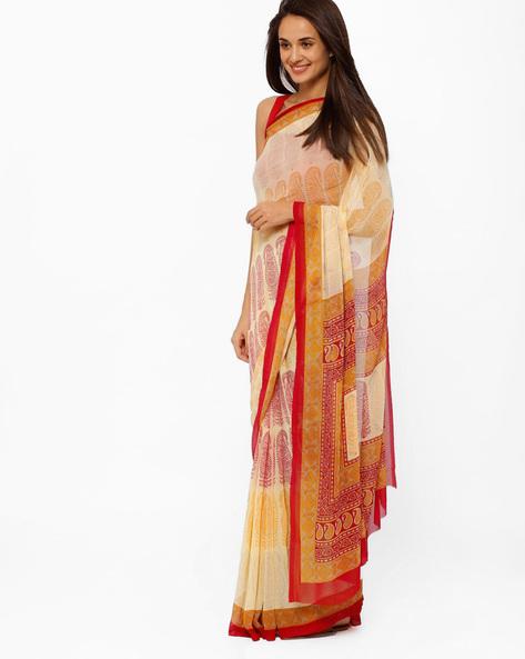 Printed Saree By Brijraj ( Lavender )