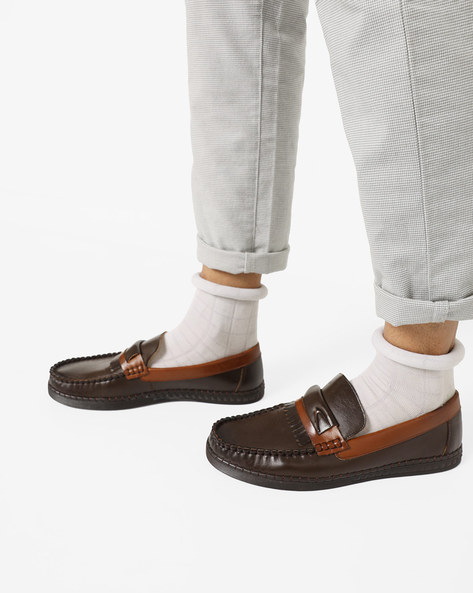 Low-Top Slip-On Casual Shoes By DUKE ( Brown )
