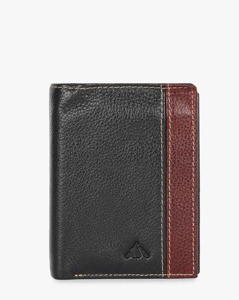 Genuine Leather Textured Bi-Fold Wallet By ALVARO CASTAGNINO ( Black )