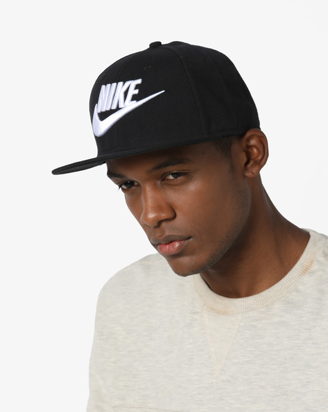 Baseball Cap With Embroidered Branding By NIKE ( Black ) - 460136888001