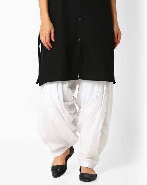 Cotton Patiala Pants By Stylenmart ( White )